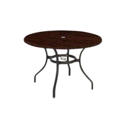 Manila Bay Commerical Contract Grade 40 In Round Werzalit Patio Top Dining Table