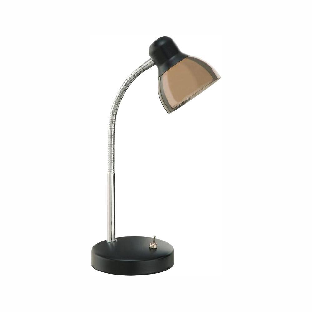 hamptonbay Hampton Bay 15 in. Black Integrated LED Desk Lamp