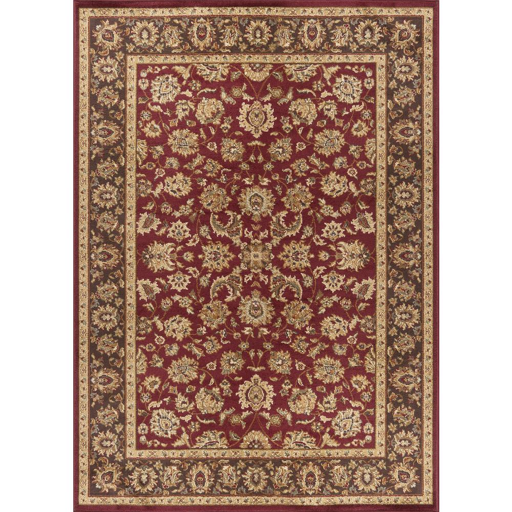 Ottomanson Traditional Floral Design Dark Red 2 Ft X 7 Ft: Ottomanson Traditional Oriental Medallion Dark Red 5 Ft. X