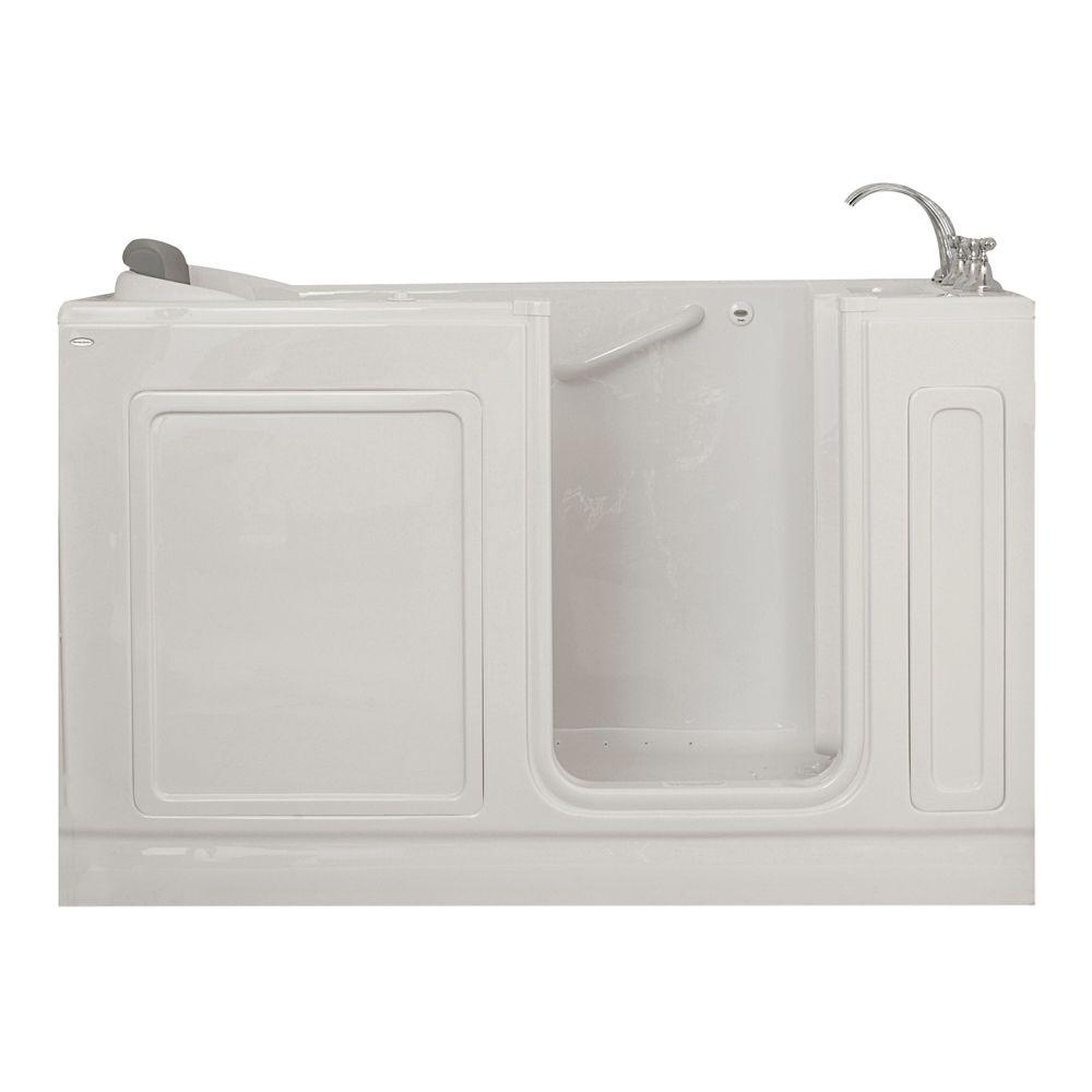 American Standard Acrylic Standard Series 60 in. x 32 in. Walk-In Air Bath Tub with Quick Drain in White