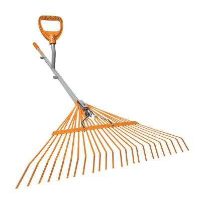 24-Tine Leaf Rake Steel Shaft Strain Reducing Steel