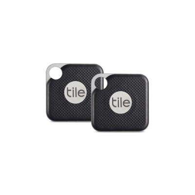 Tile Pro Black with Replaceable Battery (2-Pack)