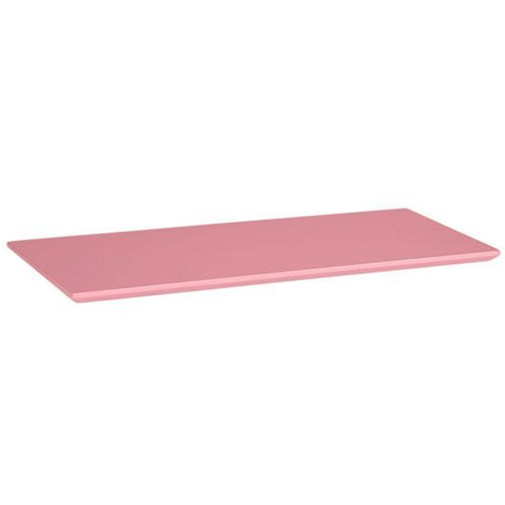 Home Decorators Collection Mantel Top Pink Folding and Stacking 1-Shelf Bookcase