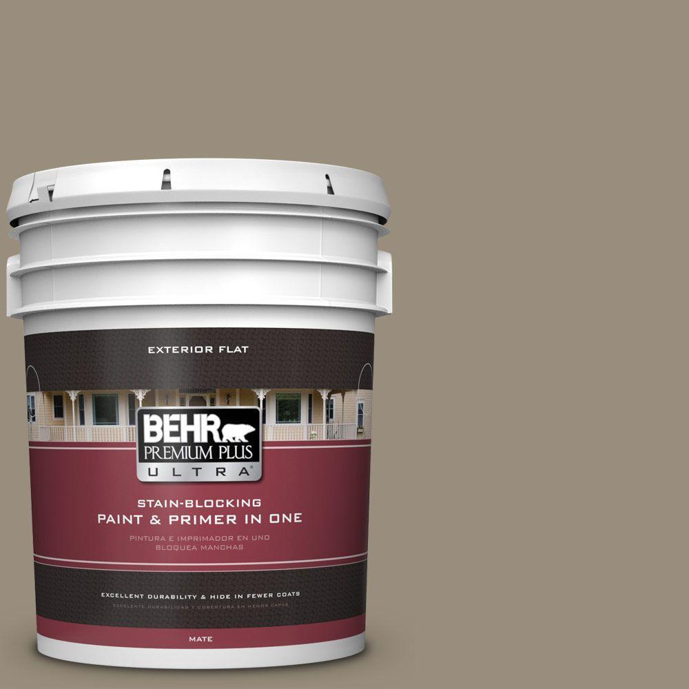 BEHR Premium Plus Ultra 5-gal. #ECC-43-2 Bridle Path Flat Exterior Paint