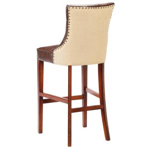 Fantastic Home Decorators Collection Rebecca 31 In Brown Cushioned Beatyapartments Chair Design Images Beatyapartmentscom