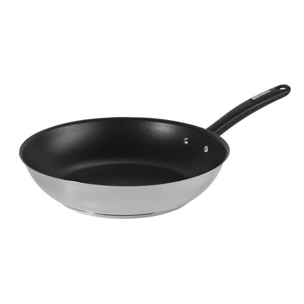 Duo 12 in Stainless Steel Frying Pan with Nonstick Interior