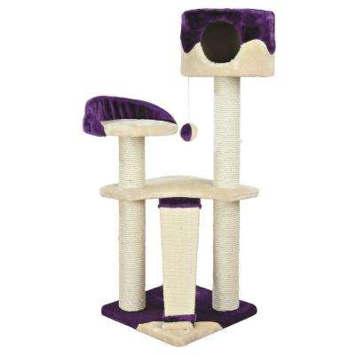 Beige/Purple Carla Cat Tree