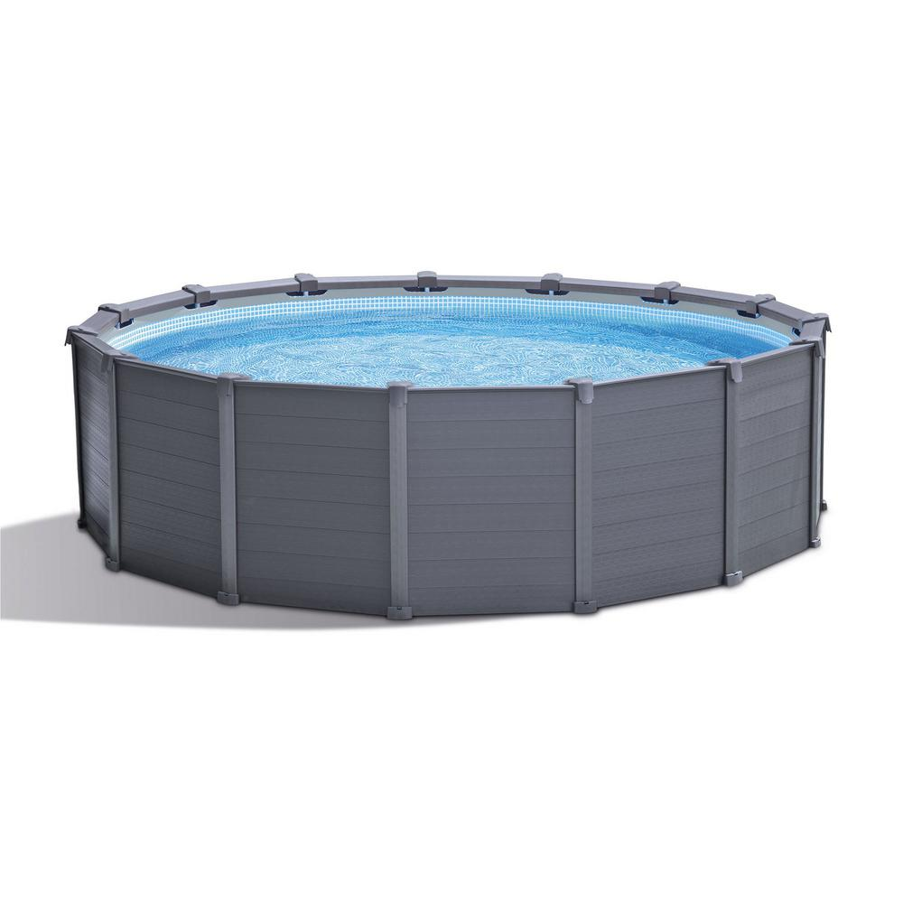 Intex Intex 15 ft. 8 in. x 49 in. Metal Frame Above Ground Swimming ...