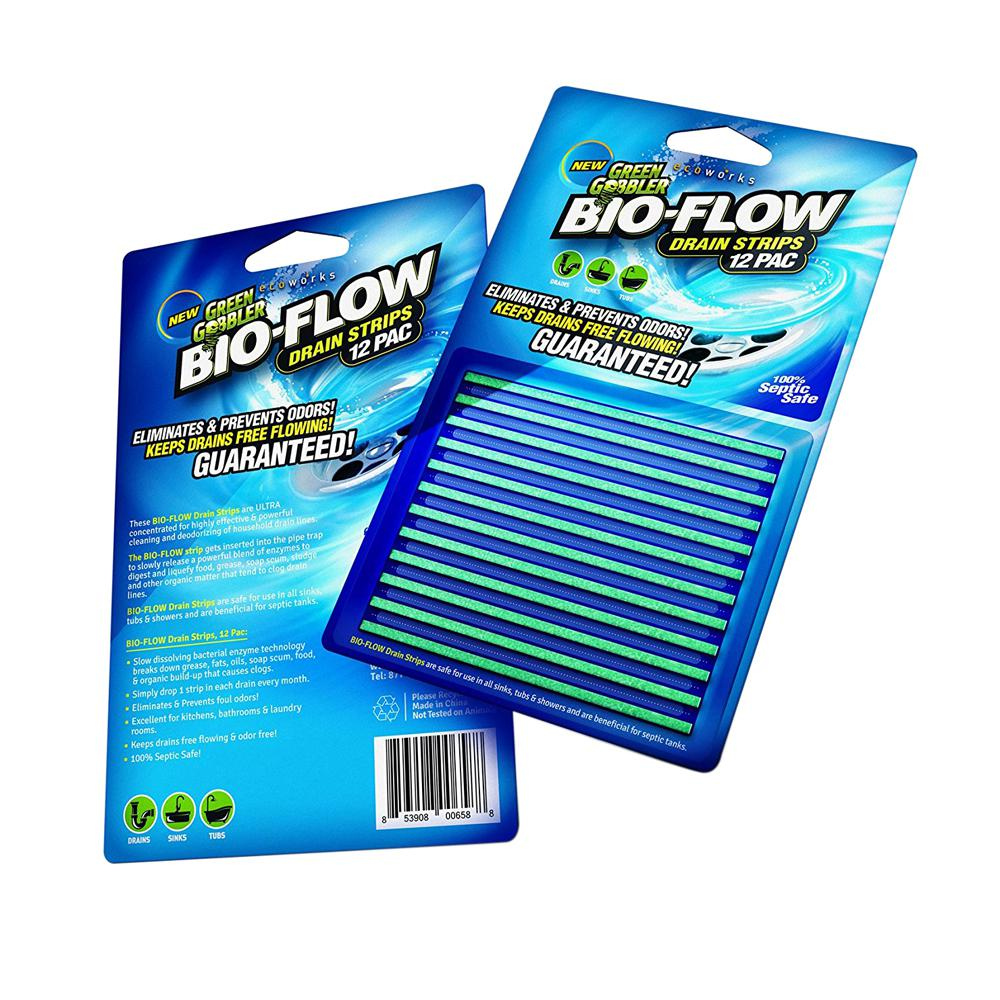 Green Gobbler Bio-Flow Drain Strips (12-Pack)-GGDS12PAC - The Home Depot