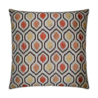 Brandon Brick Feather Down 24 in. x 24 in. Decorative Throw Pillow