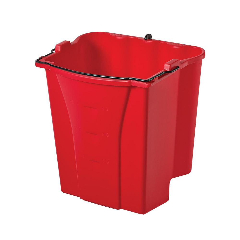 WaveBreak 4.5 Gal. Red Plastic Dirty Water Bucket