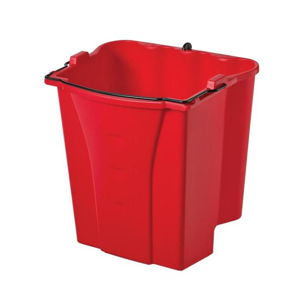 Rubbermaid Commercial WaveBrake 2.0 Dirty Water Bucket, 18 qt, Plastic, Red -RCP2064907