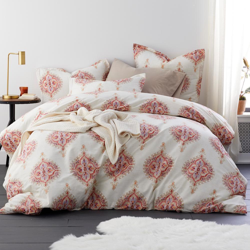 Leaves Cotton Rich Duvet Quilt Cover Percale Bedding Set All Sizes