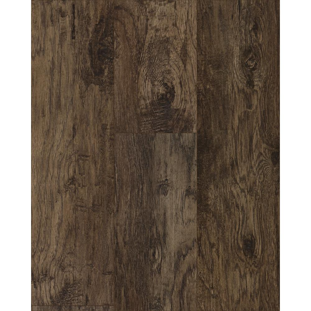 Trafficmaster Saratoga Hickory Coffee 7 Mm Thick X 7 2/3 In. Wide X 50 5/8 In. Length Laminate Flooring (24.17 Sq. Ft. / Case), Medium