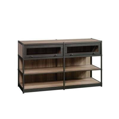 Barrister Lane 60 in. Salt Oak Particle Board TV Stand Fits TVs Up to 60 in. with Storage Doors