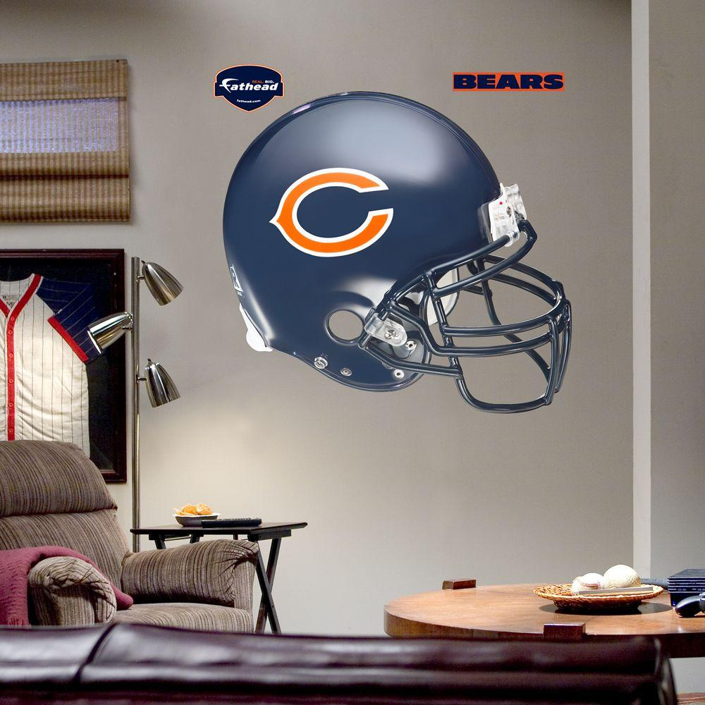 Fathead 57 in. x 51 in. Chicago Bears Helmet Wall Decal