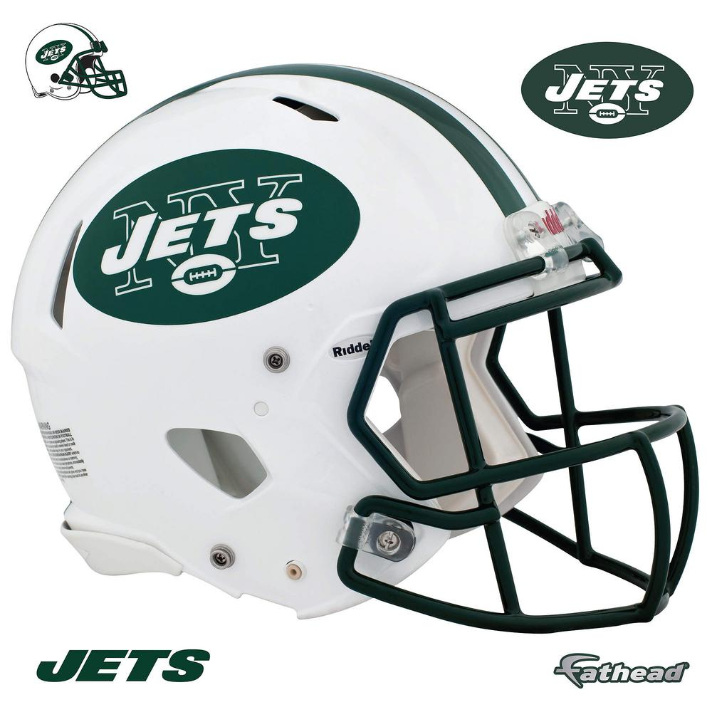 Fathead 45 in. H x 56 in. W New York Jets Helmet Wall Mural-11-10069 ... 6727ee536