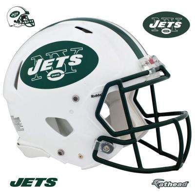 45 in. H x 56 in. W New York Jets Helmet Wall Mural