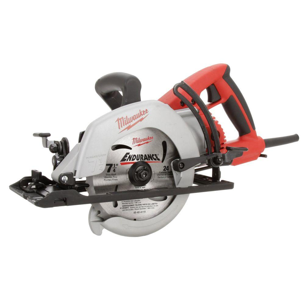 Milwaukee 15 amp 7 14 in corded lightweight magnesium worm drive milwaukee 15 amp 7 14 in corded lightweight magnesium worm drive circular greentooth Image collections