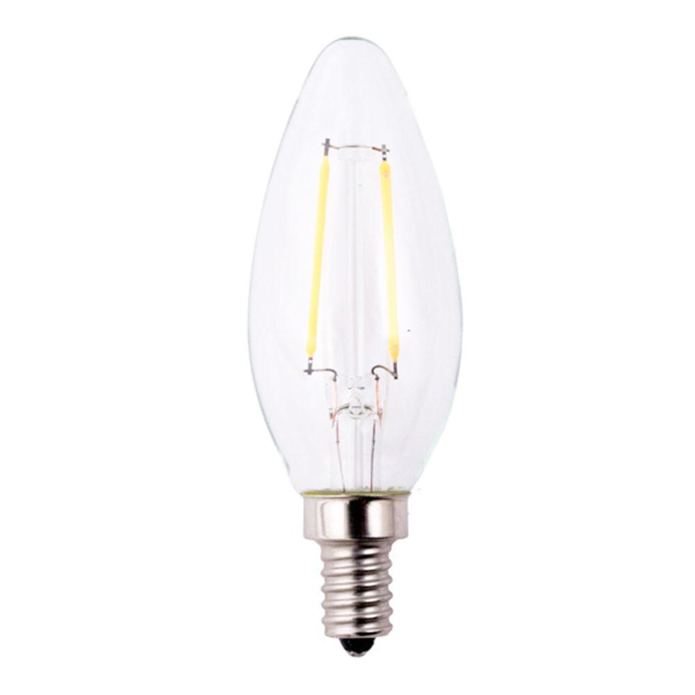 25W Equivalent Soft White Classic Glass B11 Dimmable Filament E12 LED