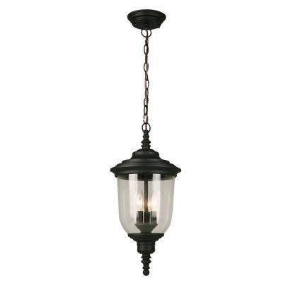 Pinedale Matte Black 3-Light Hanging Light