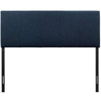 Oliver Navy Queen Upholstered Fabric Headboard