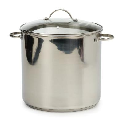 Endurance 16 qt. Stainless Steel Stock Pot with Glass Lid
