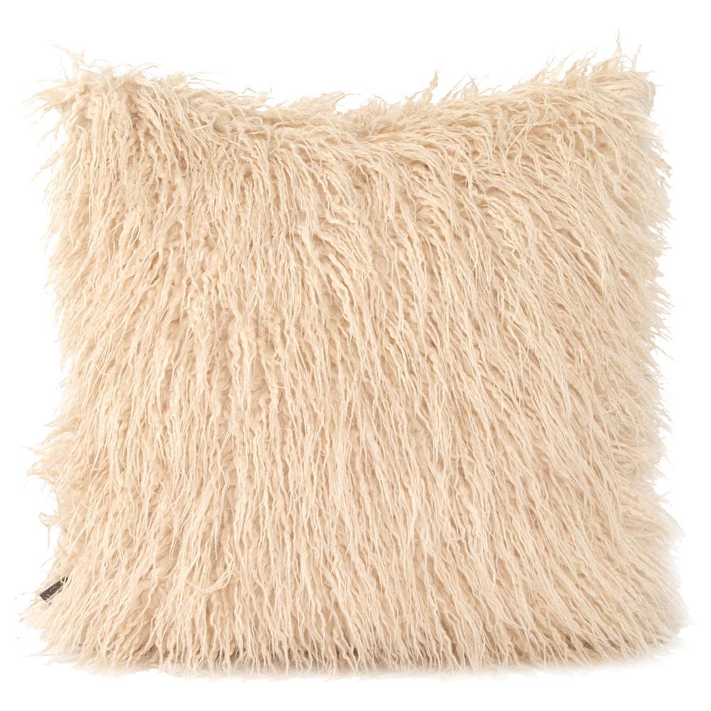 20 in. x 20 in. Beige Decorative Pillow Llama Sand