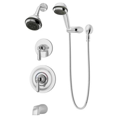 Allura 1-Handle Wall-Mounted Tub and Shower Trim Kit in Polished Chrome (Valve not Included)