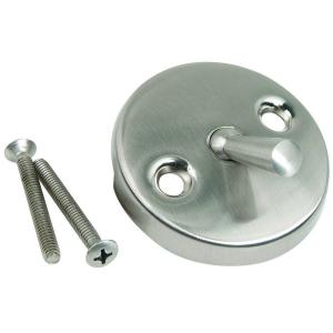 Brasscraft Overflow Face Plate with Trip Lever, Two Hole with Screws in Satin Nickel by BrassCraft