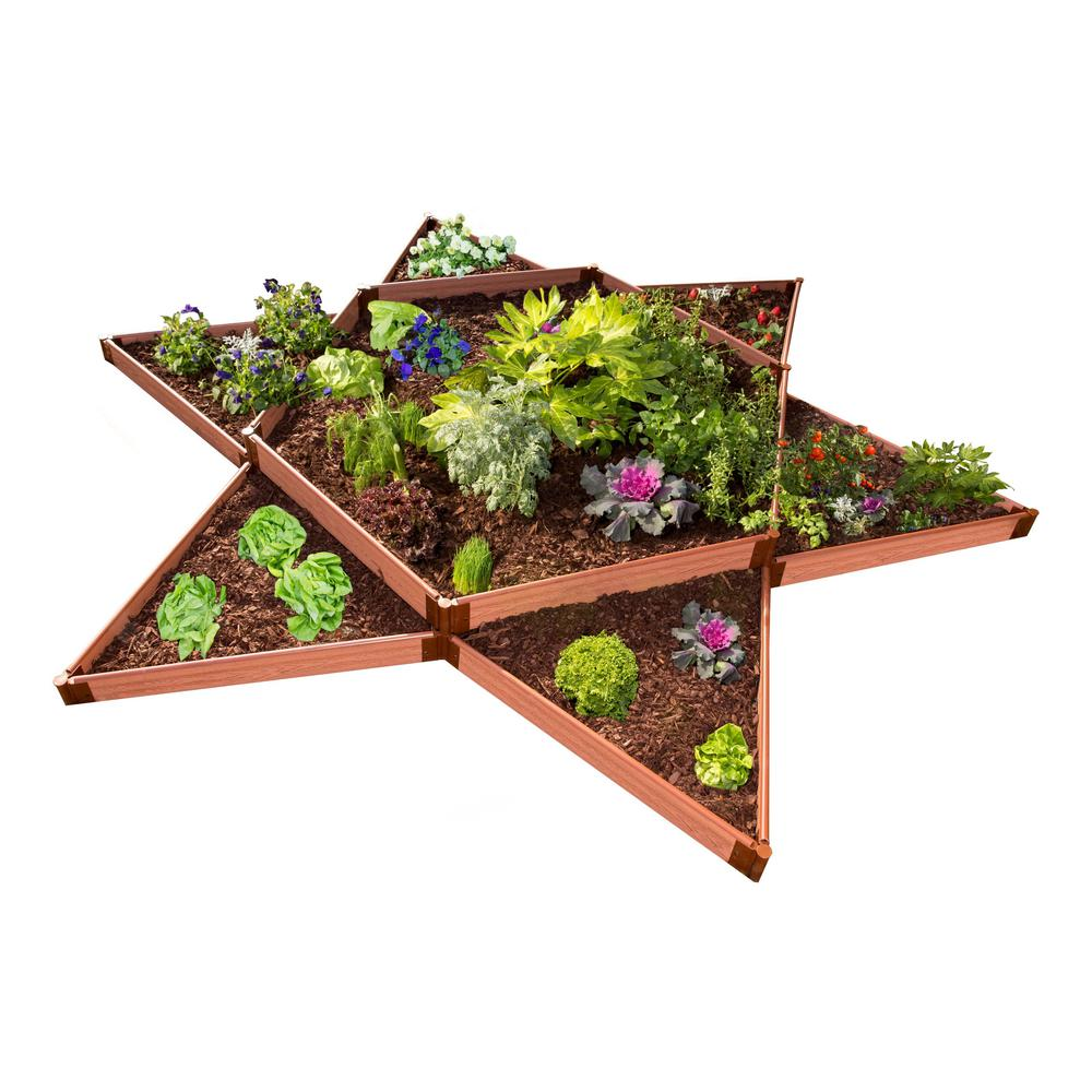 Frame It All One Inch Series 144 in. x 144 in. x 11 in. Garden Star Classic Sienna Raised Garden Bed