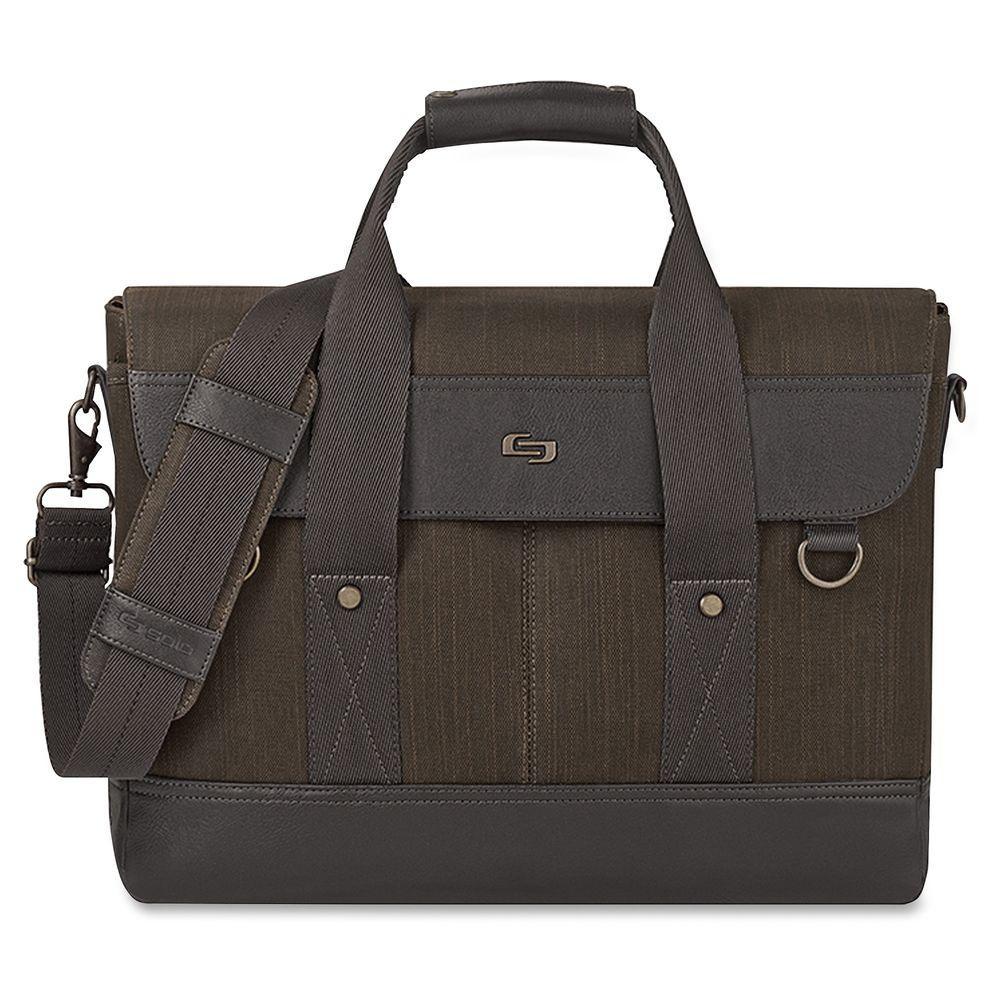 15.6 in. Black Cotton/Vinyl Executive Notebook Carrying Case