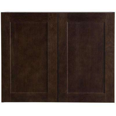 Cambridge Assembled 30x24x15.6 in. Wall Cabinet in Dusk