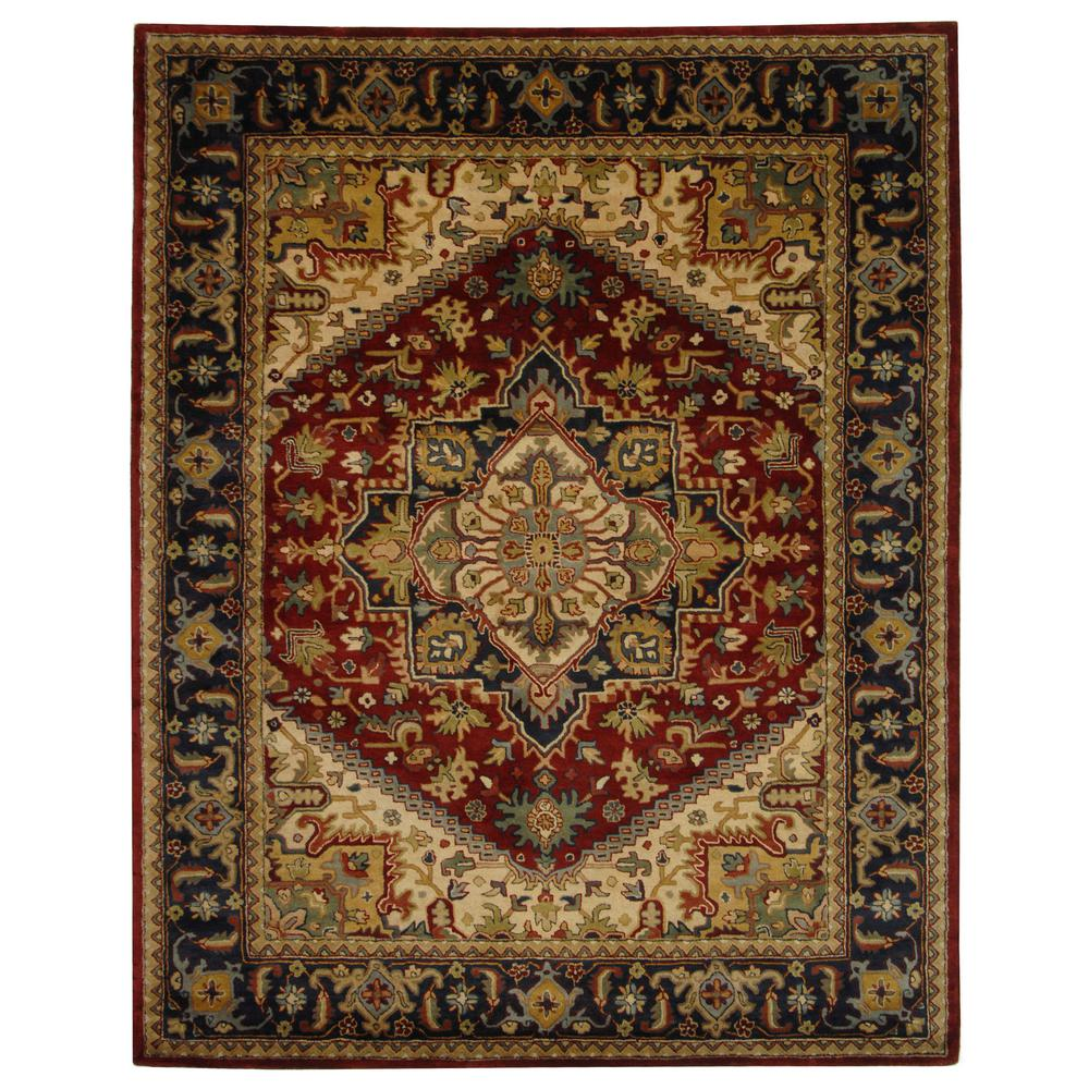 Classic Assorted/Red 8 ft. 3 in. x 11 ft. Area Rug