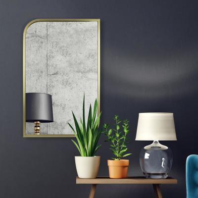 Pointed Rectangular Gold Decorative Mirror