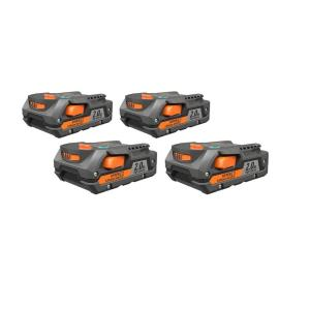 4-Pack RIDGID 18-Volt 2.0 Ah Lithium-Ion Battery