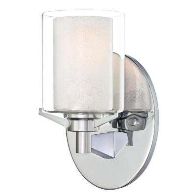 Glenford 1-Light Chrome Wall Mount Sconce