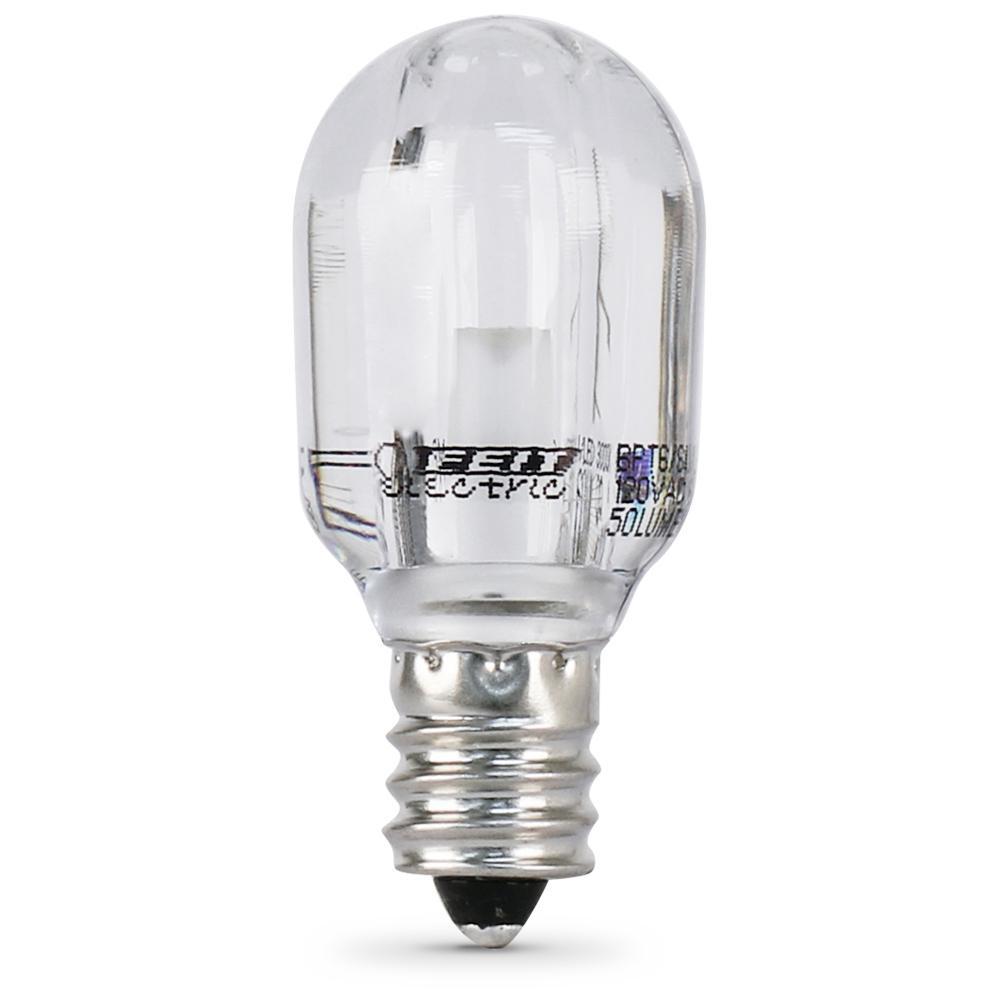 15W Equivalent Warm White (3000K) T6 Candelabra LED Picture Frame/Indicator Light Bulb