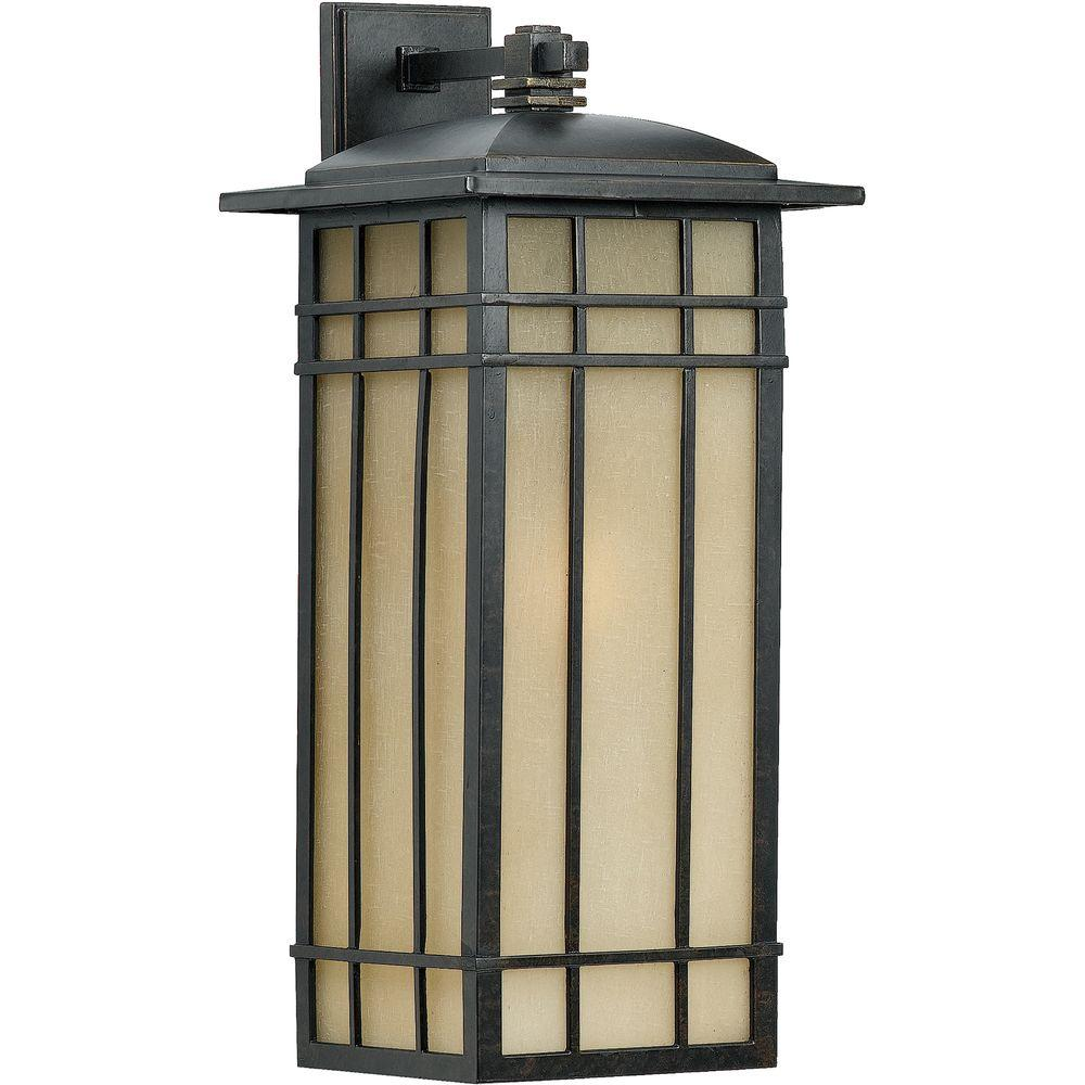 Filament Design Monroe 1-Light Imperial Bronze Outdoor Fluorescent Wall Lantern