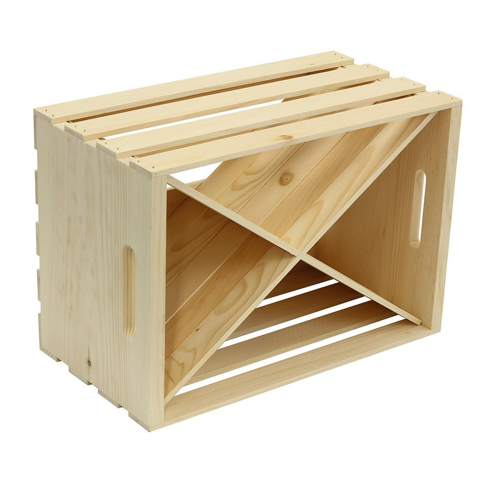 Crates And Pallet Wood Crate X Divided Insert Unfinished
