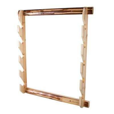Rustic Gun Handcrafted Solid Pine Easy to Assemble Wall Storage Rack