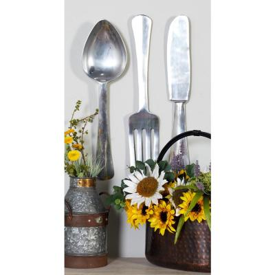 Aluminum Silver Utensils Metal Works (Set of 3)