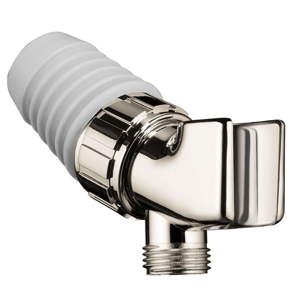 Hansgrohe shower arm mount holder in polished nickel 06505833 the home depot - Hansgrohe shower arm ...