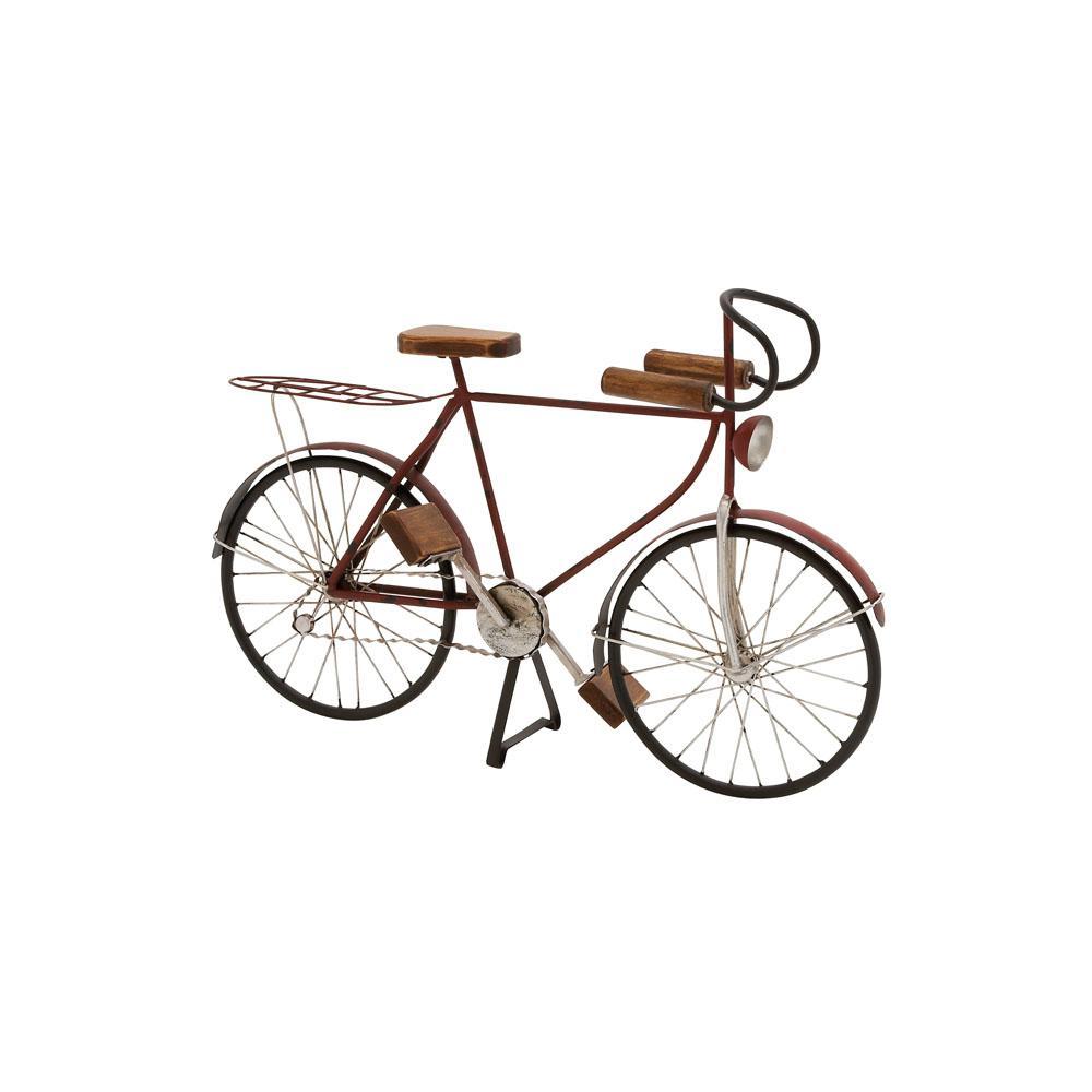 Vintage Bicycle Wood and Metal Sculpture
