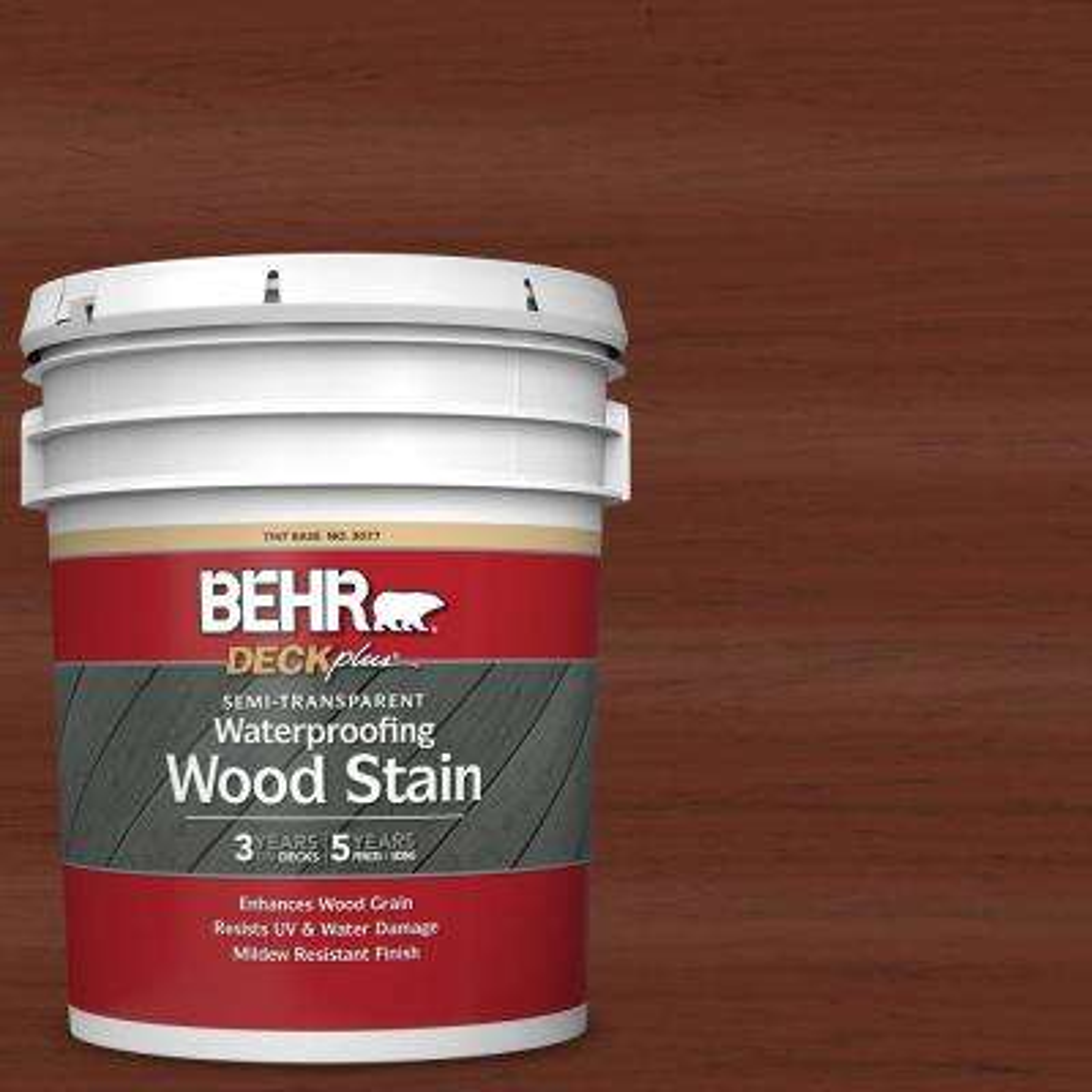 5 gal. #ST-118 Terra Cotta Semi-Transparent Waterproofing Exterior Wood Stain