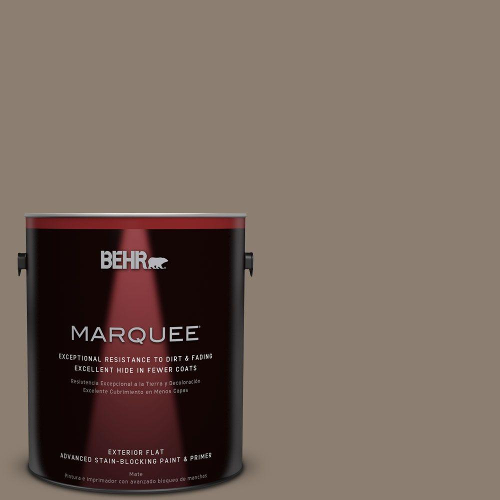 1-gal. #BNC-36 Restful Brown Flat Exterior Paint