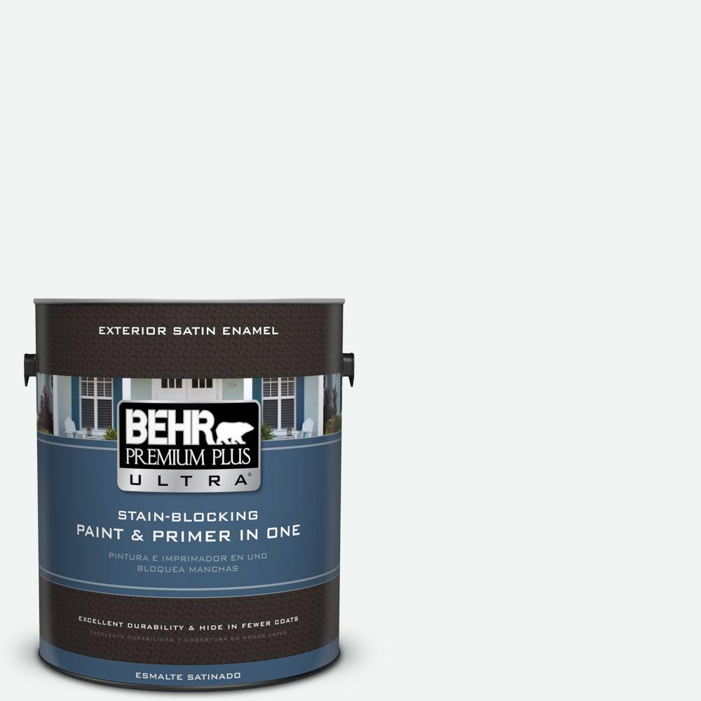 BEHR Premium Plus Ultra 1-gal. #BL-W9 Bakery Box Satin Enamel Exterior Paint