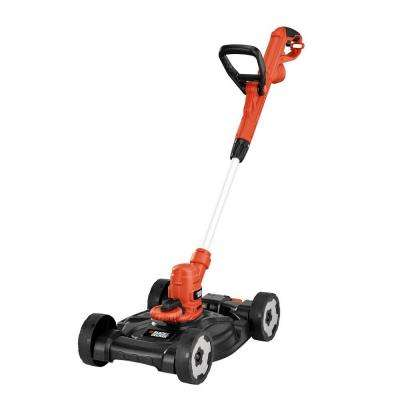12 in. 6.5-Amp Corded Electric Straight Shaft Single Line 3-in-1 String Grass Trimmer/Lawn Edger/Push Mower