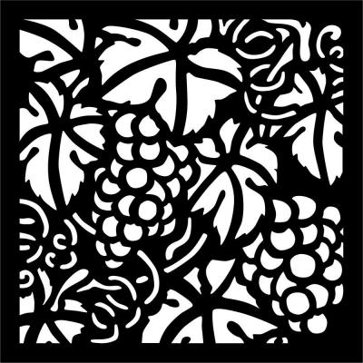 0.3 in. x 22.8 in. x 1.9 ft. Matrix Grape Vine Wall Art & Fence Panel