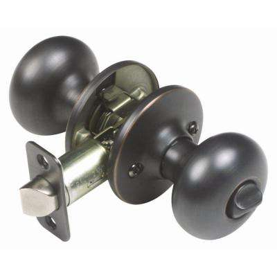 Cambridge Oil Rubbed Bronze Privacy Knob with Universal 6-Way Latch